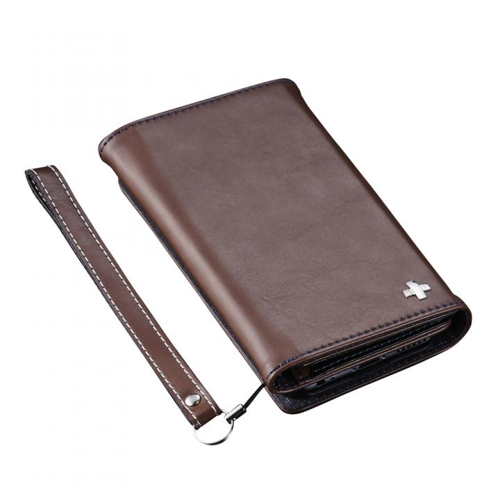 iPhone6s ケース 3つ折りノート手帳型ケース BillFold ブラウン iPhone 6s/6_0
