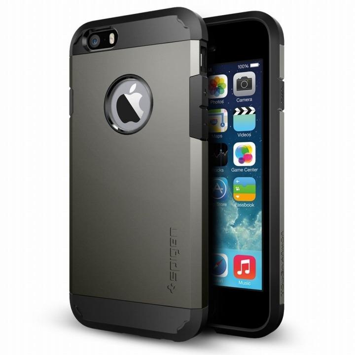 【iPhone6ケース】Spigen タフ・アーマー ガンメタル iPhone 6ケース_0