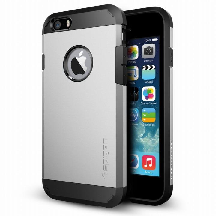 【iPhone6ケース】Spigen タフ・アーマー サテンシルバー iPhone 6ケース_0