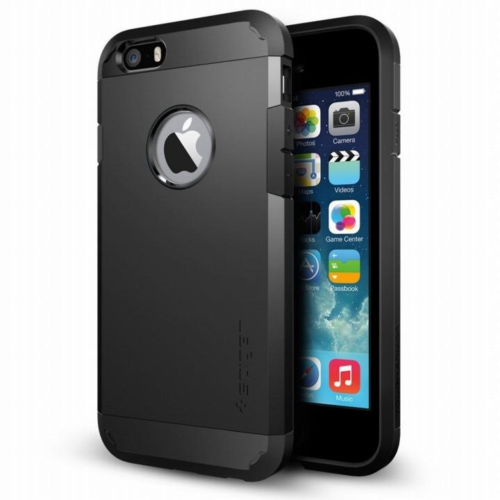【iPhone6ケース】Spigen タフ・アーマー スムースブラック iPhone 6ケース_0