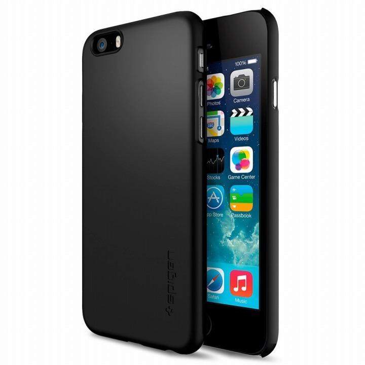 【iPhone6ケース】Spigen シン・フィット スムースブラック iPhone 6ケース_0