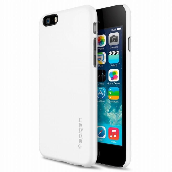 【iPhone6ケース】Spigen シン・フィット シマリーホワイト iPhone 6ケース_0