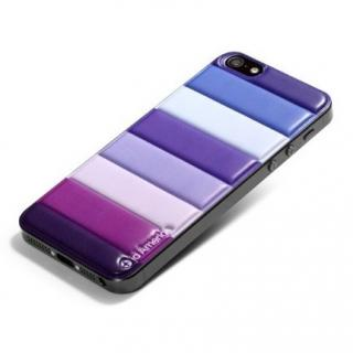 id America Cushi iPhone5-Stripe 【Purple】