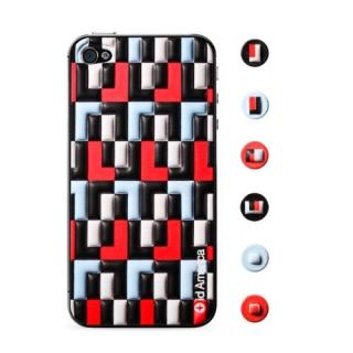 その他のiPhone/iPod ケース id America Cushi - Art Deco iPhone 4s/4 【Red】