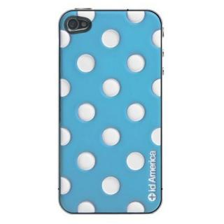 その他のiPhone/iPod ケース id America Cushi - Dot iPhone 4s/4 【Blue】