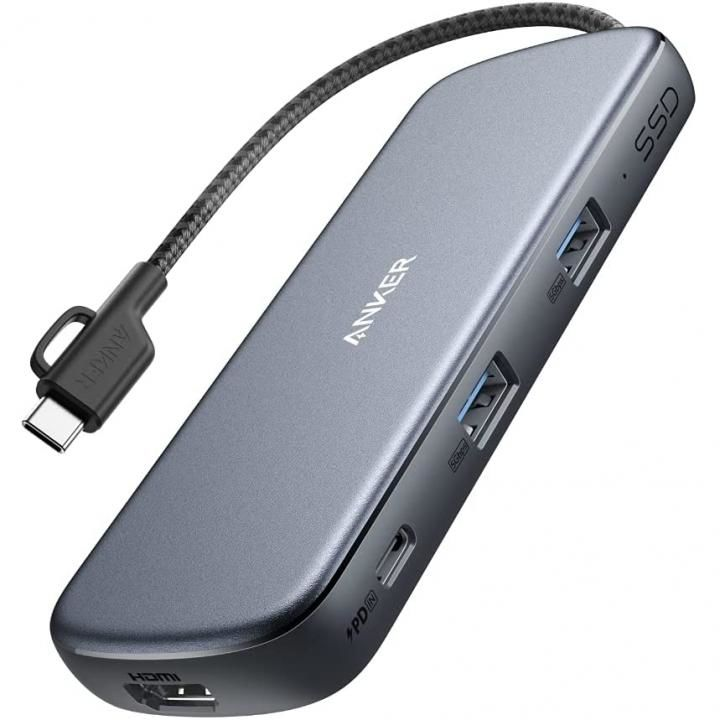Anker PowerExpand 4-in-1 USB-C SSD ハブ 256GB グレイ_0
