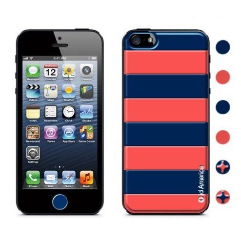 id America Cushi iPhone SE/5s/5-Stripe 【Navy】