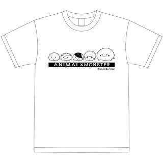 [2017夏フェス特価]アニマルモンスター アニモン Tシャツ モッチシリーズ ホワイト Lサイズ