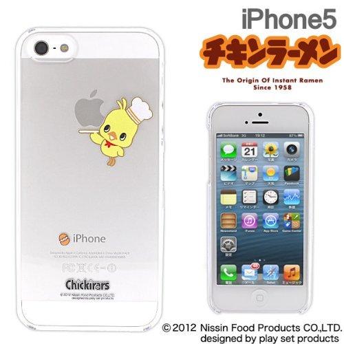 【iPhone SE/5s/5ケース】iPhone5 チキンラーメン/Applusアップラスハードクリアケース(ひよこちゃん/コック)_0