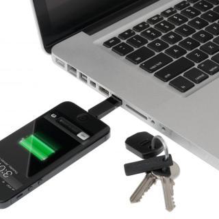 Kii (キー) Lightning/USB鍵型アダプター ブラック