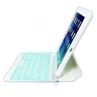 バックライト搭載 Bluetoothキーボード ホワイト iPad Airケース