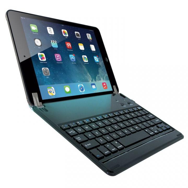 ノートタイプ Bluetoothキーボード ブラック iPad Airケース