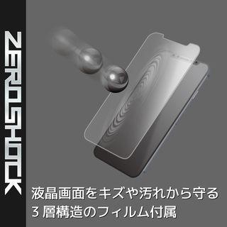 【iPhone XRケース】ZEROSHOCK 耐衝撃吸収ケース スタンダード インビジブルクリア iPhone XR_5