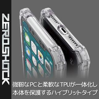 【iPhone XRケース】ZEROSHOCK 耐衝撃吸収ケース スタンダード インビジブルクリア iPhone XR_3