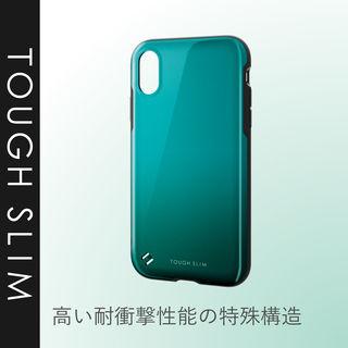 【iPhone XRケース】TOUGH SLIM2 2トーンカラーケース グリーン iPhone XR_5