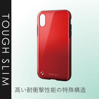 【iPhone XRケース】TOUGH SLIM2 2トーンカラーケース レッド iPhone XR_4