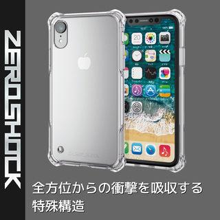 【iPhone XRケース】ZEROSHOCK 耐衝撃吸収ケース スタンダード インビジブルクリア iPhone XR_2