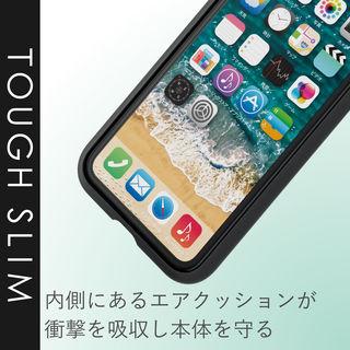 【iPhone XRケース】TOUGH SLIM2 2トーンカラーケース グリーン iPhone XR_4