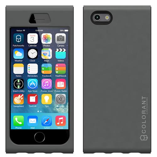 脱着可能なネックストラップ付き Colorant Link ネックストラップケース シルバー iPhone 6ケース