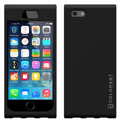 【iPhone6ケース】脱着可能なネックストラップ付き Colorant Link ネックストラップケース ブラック iPhone 6ケース_0