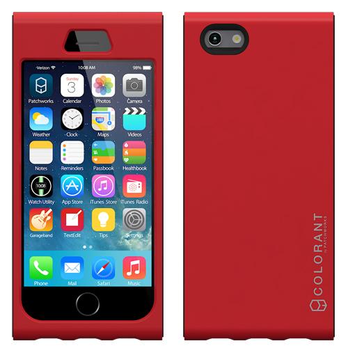 iPhone6s/6 ケース 脱着可能なネックストラップ付き Colorant Link ネックストラップケース レッド iPhone 6s/6ケース_0