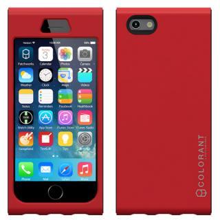 脱着可能なネックストラップ付き Colorant Link ネックストラップケース レッド iPhone 6s/6ケース