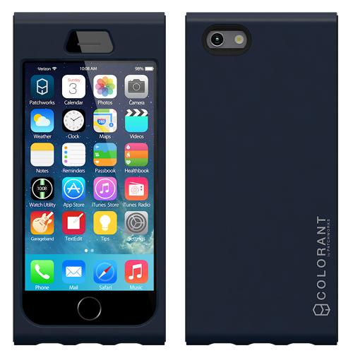 脱着可能なネックストラップ付き Colorant Link ネックストラップケース ネイビー iPhone 6ケース