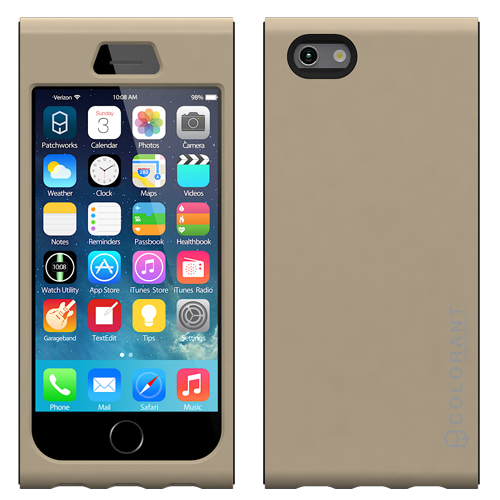 【iPhone6ケース】脱着可能なネックストラップ付き Colorant Link ネックストラップケース シャンパン iPhone 6ケース_0