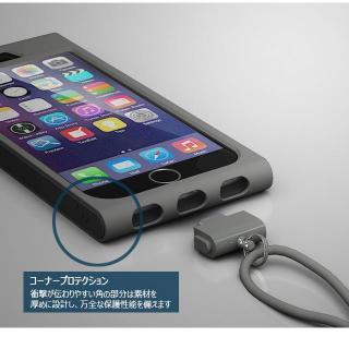 【iPhone6ケース】脱着可能なネックストラップ付き Colorant Link ネックストラップケース シャンパン iPhone 6ケース_1
