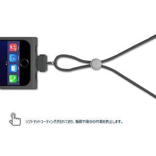 【iPhone6ケース】脱着可能なネックストラップ付き Colorant Link ネックストラップケース シャンパン iPhone 6ケース_3