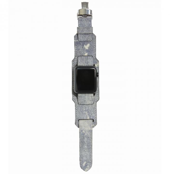 AppleWatch Strap 38mm 台座有り Trompe-l'oeil ブラックパーツ_0