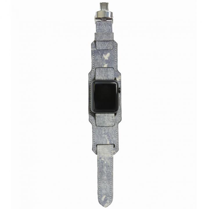 AppleWatch Strap 38mm 台座有り Trompe-l'oeil シルバーパーツ_0
