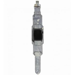 AppleWatch Strap 38mm 台座有り Trompe-l'oeil シルバーパーツ