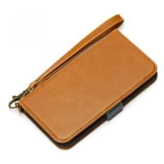 【iPhone6s/6ケース】Premium Style PUレザー手帳型ケース キャメル iPhone 6s/6