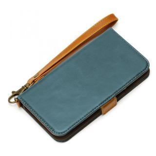 Premium Style PUレザー手帳型ケース ブルー iPhone 6s/6