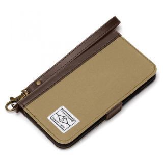 Premium Style PUレザー手帳型ケース キャンバス サンドベージュ iPhone 6s/6