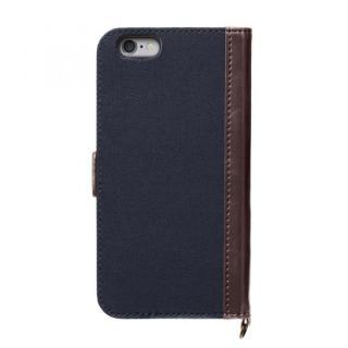 【iPhone6s/6ケース】Premium Style PUレザー手帳型ケース キャンバス ネイビー iPhone 6s/6_1
