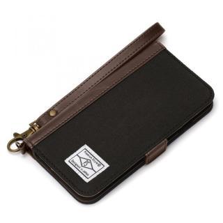 Premium Style PUレザー手帳型ケース キャンバス ブラック iPhone 6s/6