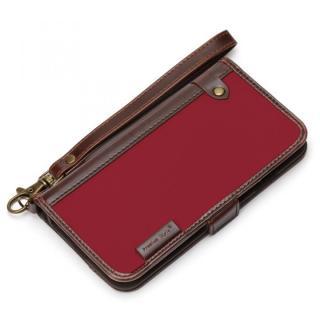 Premium Style PUレザー手帳型ケース ナイロン レッド iPhone 6s/6