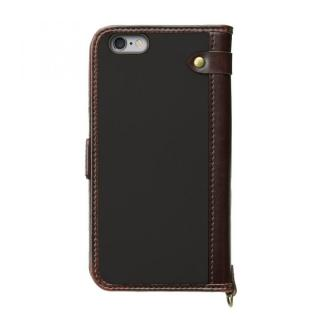 【iPhone6s/6ケース】Premium Style PUレザー手帳型ケース ナイロン ブラック iPhone 6s/6_1