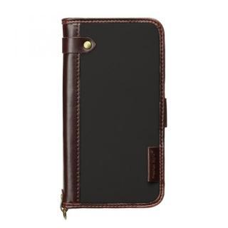 【iPhone6s/6ケース】Premium Style PUレザー手帳型ケース ナイロン ブラック iPhone 6s/6_2