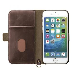 【iPhone6s/6ケース】Premium Style PUレザー手帳型ケース ナイロン ブラック iPhone 6s/6_3