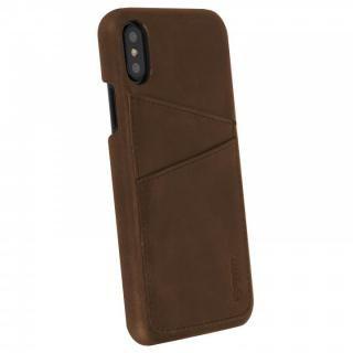 【iPhone Xケース】Krusell Sunne 背面カードポケット レザーケース ブラウン iPhone X_2