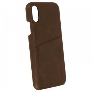 【iPhone Xケース】Krusell Sunne 背面カードポケット レザーケース ブラウン iPhone X_3