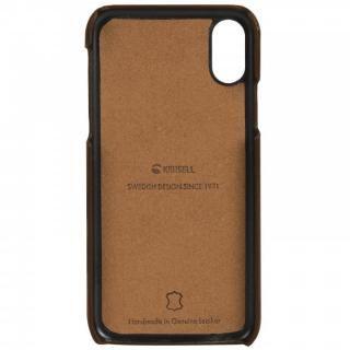 【iPhone Xケース】Krusell Sunne 背面カードポケット レザーケース ブラウン iPhone X_4