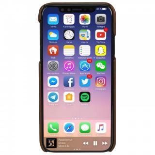 【iPhone Xケース】Krusell Sunne 背面カードポケット レザーケース ブラウン iPhone X_5