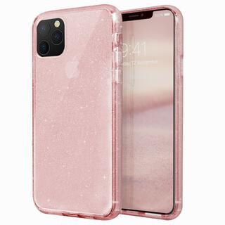 iPhone 11 Pro Max ケース UNIQ Lifepro Tinsel 耐衝撃ハイブリッド素材採用 ラメ入りクリアケース ピンク iPhone 11 Pro Max