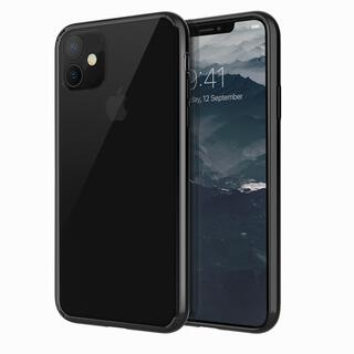 iPhone 11 ケース UNIQ Lifepro Xtreme 耐衝撃ハイブリッド素材採用 クリアケース ブラック iPhone 11