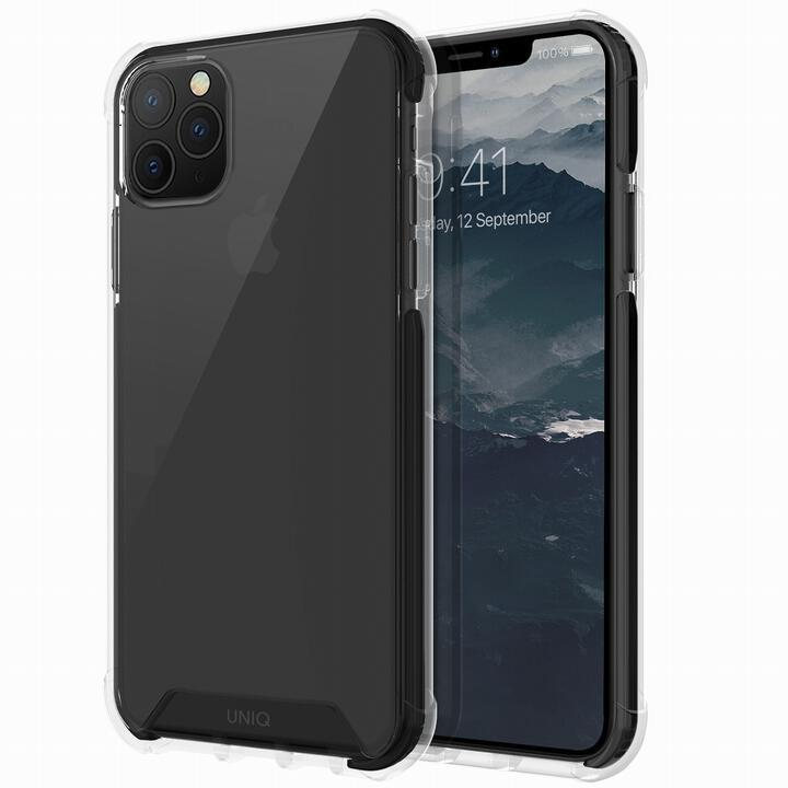 iPhone 11 Pro Max ケース UNIQ Combat 耐衝撃ハイブリッド素材採用 米軍軍事規格 クリアケース ブラック iPhone 11 Pro Max_0