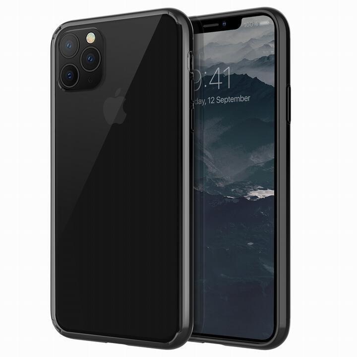 iPhone 11 Pro Max ケース UNIQ Lifepro Xtreme 耐衝撃ハイブリッド素材採用 クリアケース ブラック iPhone 11 Pro Max_0